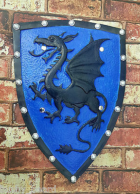 Blue Dragon Crusader Medieval Knight Fantasy Shield Larp CosPlay Foam Prop Stage