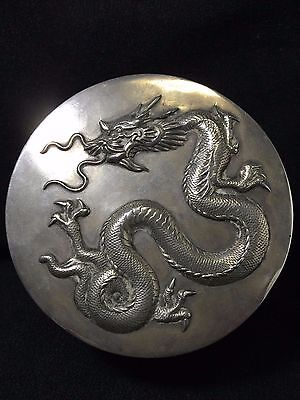 antique chines sterling silver 3 d box dragon