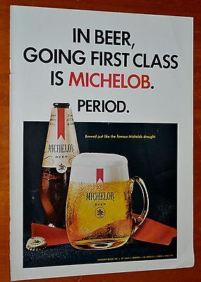 Nice 1967 Michelob American Beer Ad - Anonce Biere Vintage 60S Ale