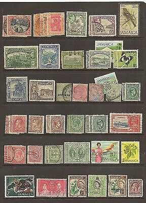 JAMAICA USED - 37 Different as shown      (R5348)