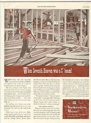Vintage Ad 1944~ THE NORTHWESTERN MUTUAL~ The Seventh Heaven  *AF*