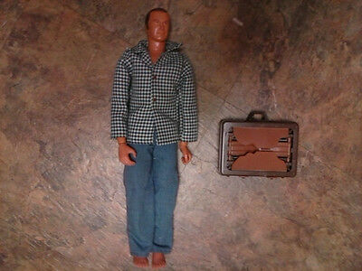 Vintage Kenner Oscar Goldman action figure with briefcase Six Million Dollar Man
