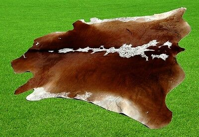 "New Cowhide Rugs Area Cow Skin Leather 30.63 sq.feet (70""x63"") Cow hide MB-9292"