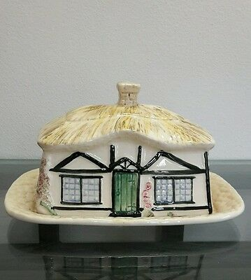 Lovely Vintage Sylvac Cottage Ware Ceramic Butter Dish Collectable