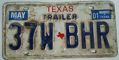 2001 Texas Trailer expired license plate tag ( 37W BHR )