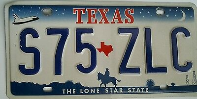 Texas expired license plate tag ( S75 ZLC )  The Lone Star State