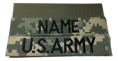 2 piece ACU Name & US ARMY Tape set, with Fastener - Military