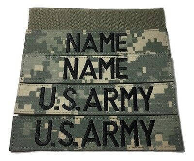 4 piece ACU Name & US ARMY Tape set, with Fastener - Military