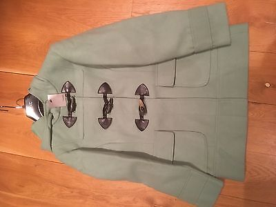 New with tags Next Girls Green Hooded Duffle Coat Jacket Age 9-10 Years