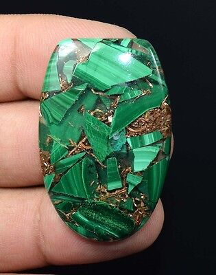 51.55  Cts. Natural  Pretty  Copper Malachite  Fancy  Cab Loose Gemstones