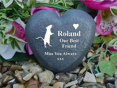 Personalised Heart (Stone Effect) - Weatherproof - Memorial - Rat