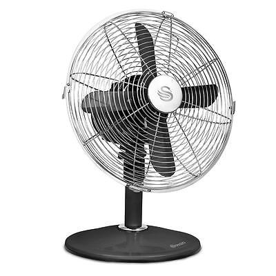 """12"""" Black Oscillating Electric DESK FAN Portable Home Office Air Cooling COOLER"""