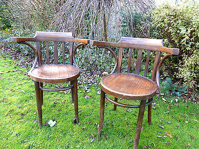 Pair of early 20th century antique  bentwood carver's chairs....Krakow Poland