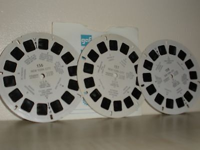 Viewmaster reels. New York City & Bullfight In Spain.  With plain sleeves