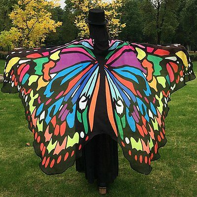Butterfly Wing Cape Scarf Women COLORFUL