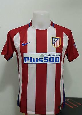 Atletico Madrid 2016/2017 Nile Player Size Home Football Shirt JSY Soccer Men