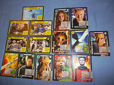 15 Common Doctor Who Monster Invasion Trading Cards
