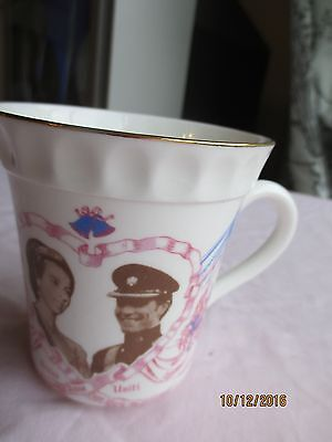 1973 Princess Anne & Mark Phillips Wedding Mug by Wilson's Pottery  (Paignton)