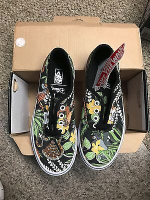 VANS Authentic Disney The Jungle Book Black Shoes Youth Kids Size 2 NEW