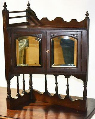 Edwardian Mahogany Mirrored Small Cupboard Display Cabinet [PL2778]
