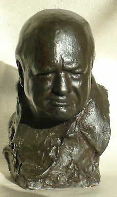 Winston Churchill signed Nemon Spirit of the Blitz Bust