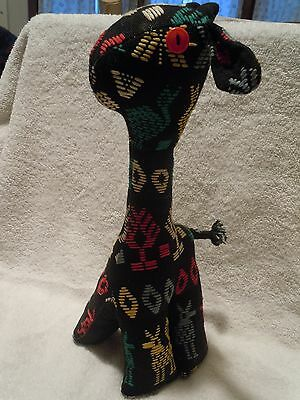Vintage Cloth Stuffed African Giraffe