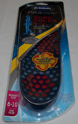 Dr. Scholl's P.R.O. Pain Relief Orthotics for Sore Soles Women's -BRAND NEW