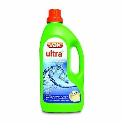 Vax Ultra Plus Carpet Cleaning Shampoo Washer Solution 1.5 L Stain Remover