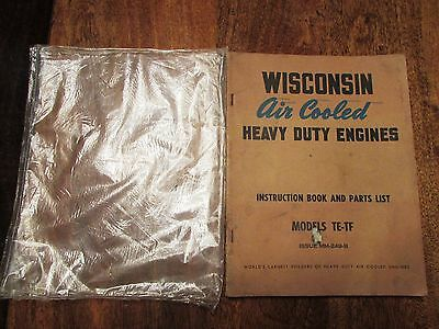 Vintage WISCONSIN AIR COOLED HEAVY DUTY ENGINES Instruction Book Parts List