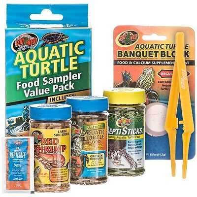 Zoo Med Aquatic Turtle Food Sampler Value Pack  (Free Shipping in USA)