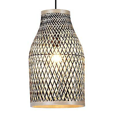 Bamboo Light Shade Lamp Decoration Room Lighting Natural Pendant Ceiling Vintage