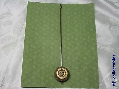 French or English brass pendulum clock length 8 in.    (ref.410-72)