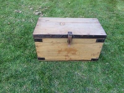 Rustic Vintage Pine Trunk / Box / Chest