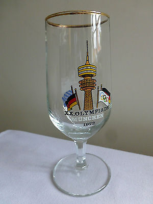 Munich Olympics 1972 small beer glass