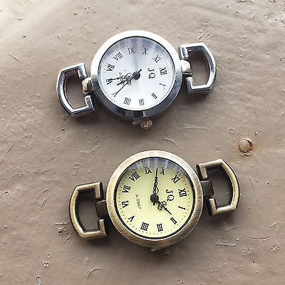 2x New Watch Face JQ (gold or silver) 25mm dia
