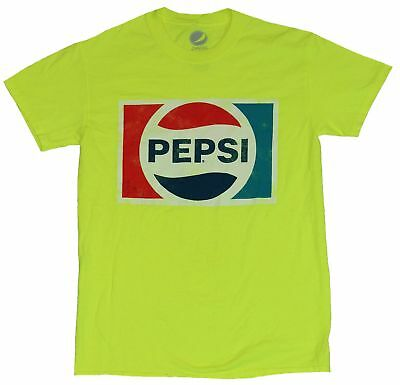 Pepsi Cola Mens T-Shirt - Distressed Classic Red White and Blue Logo