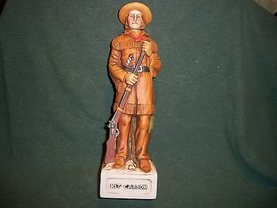 McCormick Kit Carson Decanter Frontiersmen Series Made by Americana Porcelain