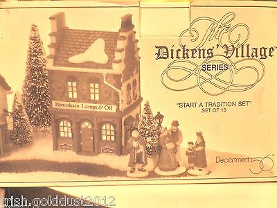 Dept 56 Dickens' Start A Tradition Set- Euc- Priority Ships - 13 Pieces