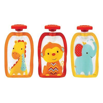 Infantino Squeeze Pouches, 100 Count, Style and Pictures Vary