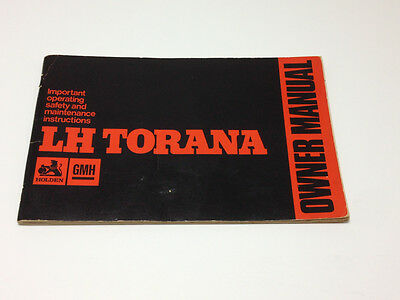Holden LH Torana Owner's Manual