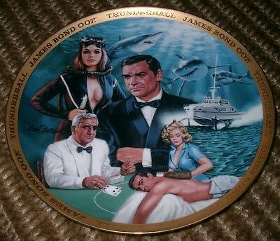 Franklin Mint Collectors Plate: James Bond 007  THUNDERBALL  Limited edition