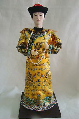 Beautiful Oriental Broider Doll,Chinese Old style doll Emperor statue
