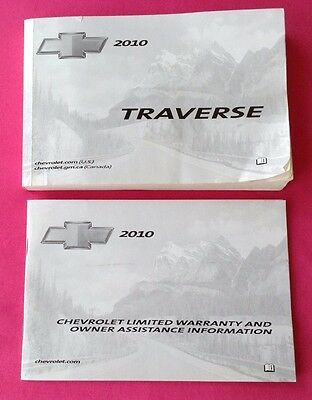 Chevrolet Chevy TRAVERSE 2010 Owner Manual w/Guide