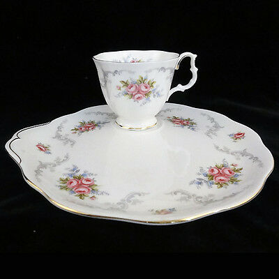 """TRANQUILITY Royal Albert HOSTESS TRAY ONLY NO CUP 8.75""""  England NEW NEVER USED"""