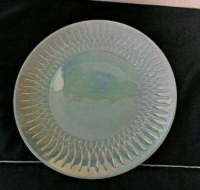 Vintage Carnival Plate-White Iridescent-9 3/4 inches-Mint!