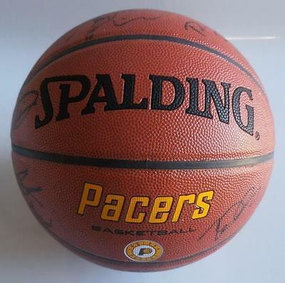 Indiana Pacers 2007-08 Team Signed Basketball PSA DNA S11056