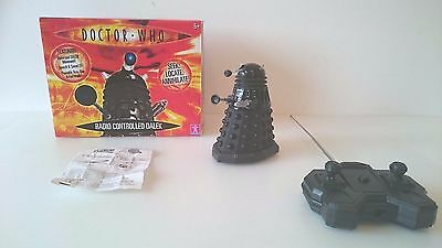 Doctor Who Speaking Dalek Remote Control Boxed Exterminate Black Instructions 5""