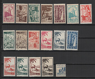 1945/47 Maroc 17 timbres neufs /T588