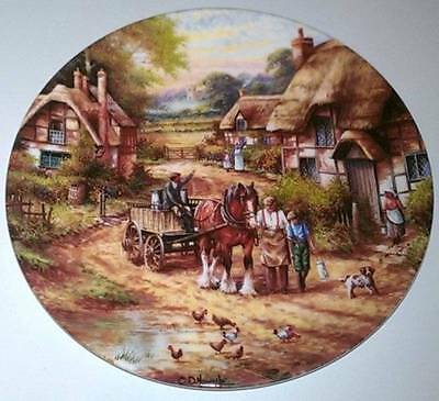 "Wedgwood Bradford Exchange Collector Plate  ""Early Morning Milk"""