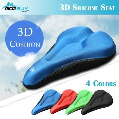 Upgrade Silicone Gel Cycling Seat Cushion Bike Saddle Pad Memory Foam Soft Cover